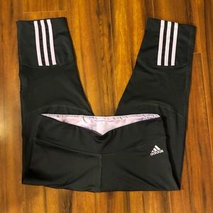 Adidas Gray and Lilac Workout Leggings.